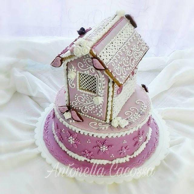 Le Torte di Antonella Cacossa e non solo...: Casetta gingerbread decorata
