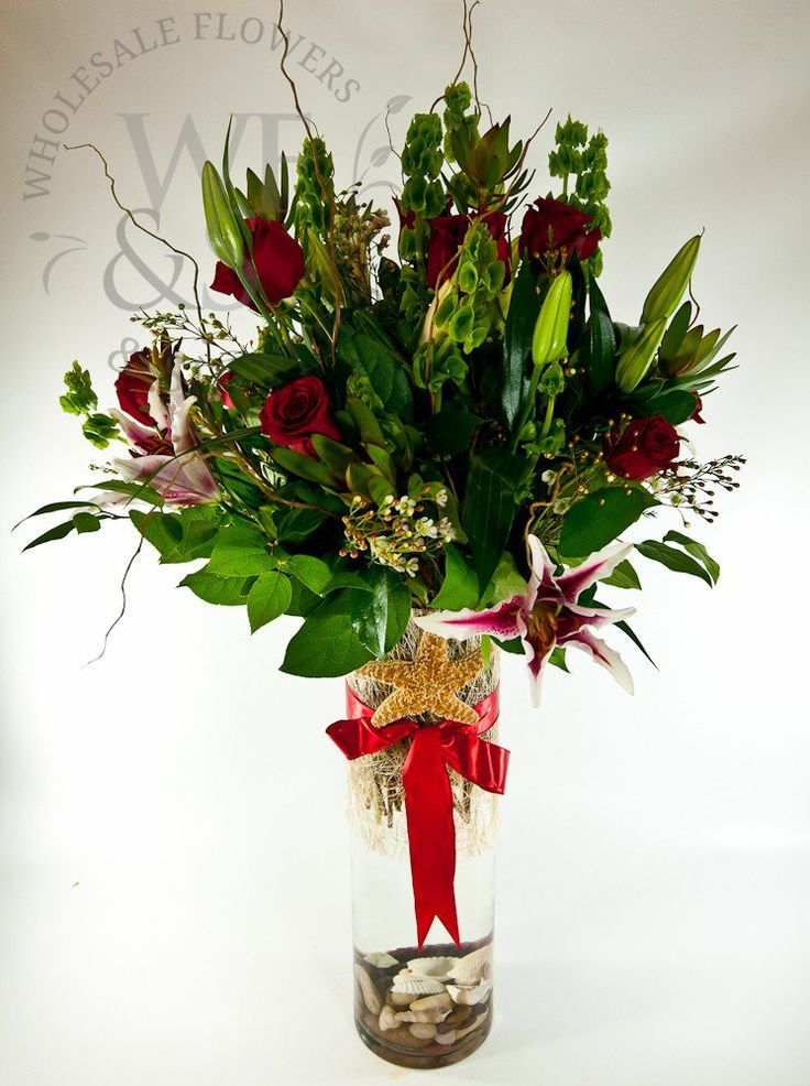 Cylinder Tall Clear Glass Vase, Wholesale Flowers and Supplies. - Wholesale Flowers and Supplies