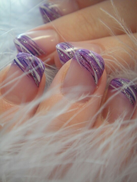 purple tips-very cute!