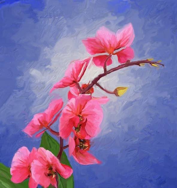 Paling Populer 30 Lukisan Bunga Dengan Crayon Jual Lukisan Bunga Anggrek 3 Digital Kab Pati Nirbaya Art Gallery Tokoped Seni Bunga Lukisan Bunga Gambar Bunga
