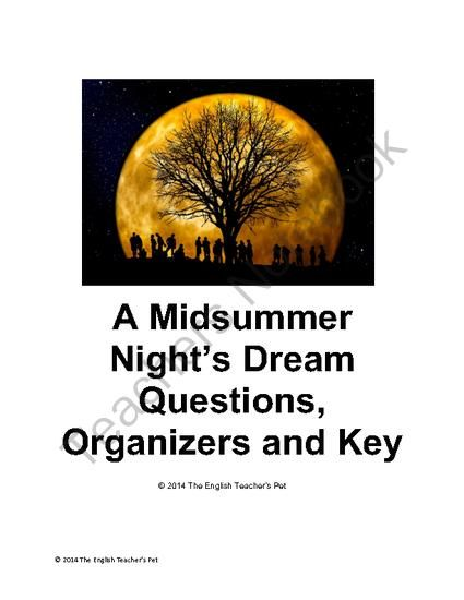 character analysis of a midsummer night dream by william shakespeare Free monkeynotes study guide summary-a midsummer nights dream by william shakespeare-character analysis/theseus/hippolyta/hermia-free book notes chapter summary plot.