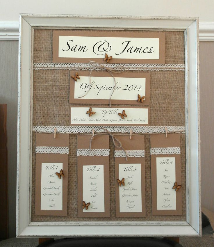 36 best Lace Wedding Seating Plans images on Pinterest