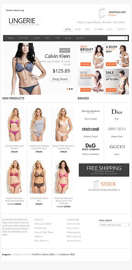 Jigoshop #template // Regular price: $115 // Unique price: $5400 // Sources available: .PSD, .PHP, This theme is widgetized #Fashion #Jigoshop #tablet #smartphone #store #shop #lingerie #sexy