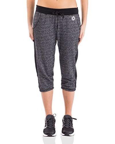 Nike Hurley Pantal贸n de Ch谩ndal Dri-Fit Fleece Crop [Gris]