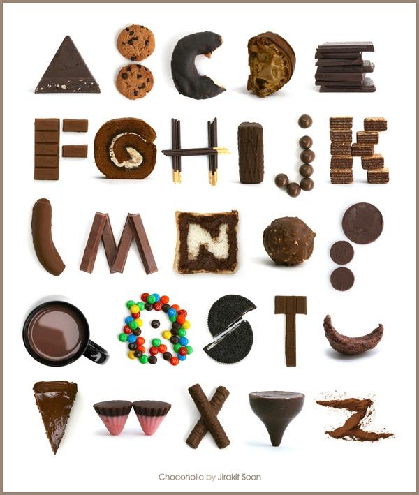 Typography Alphabet :: Chocolate Candy