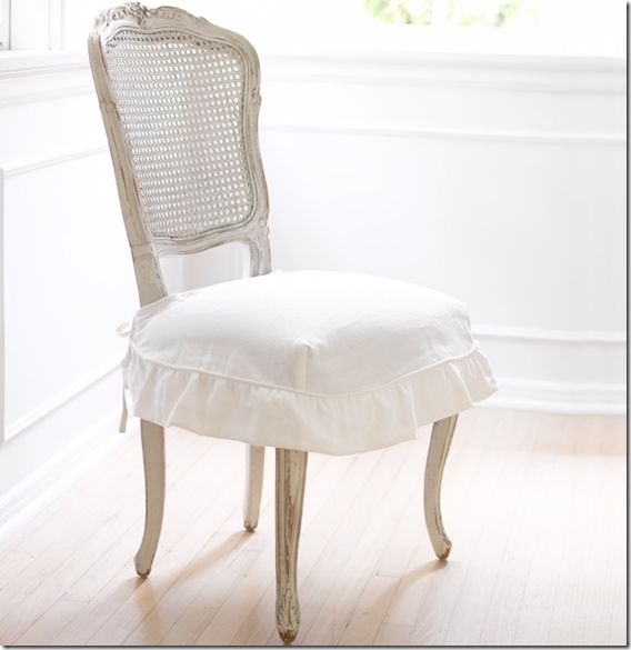 shabby chic dining room chair covers | 17 Best images about White Denim slip covers on Pinterest ...
