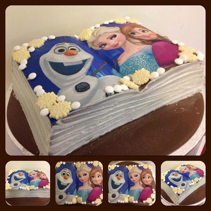 Frozen book Cake