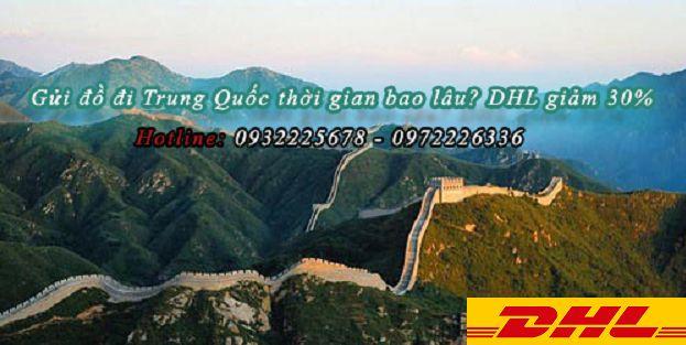 Vận chuyển hàng đi Trung Quốc giá bao nhiêu | DHL giảm 30%
