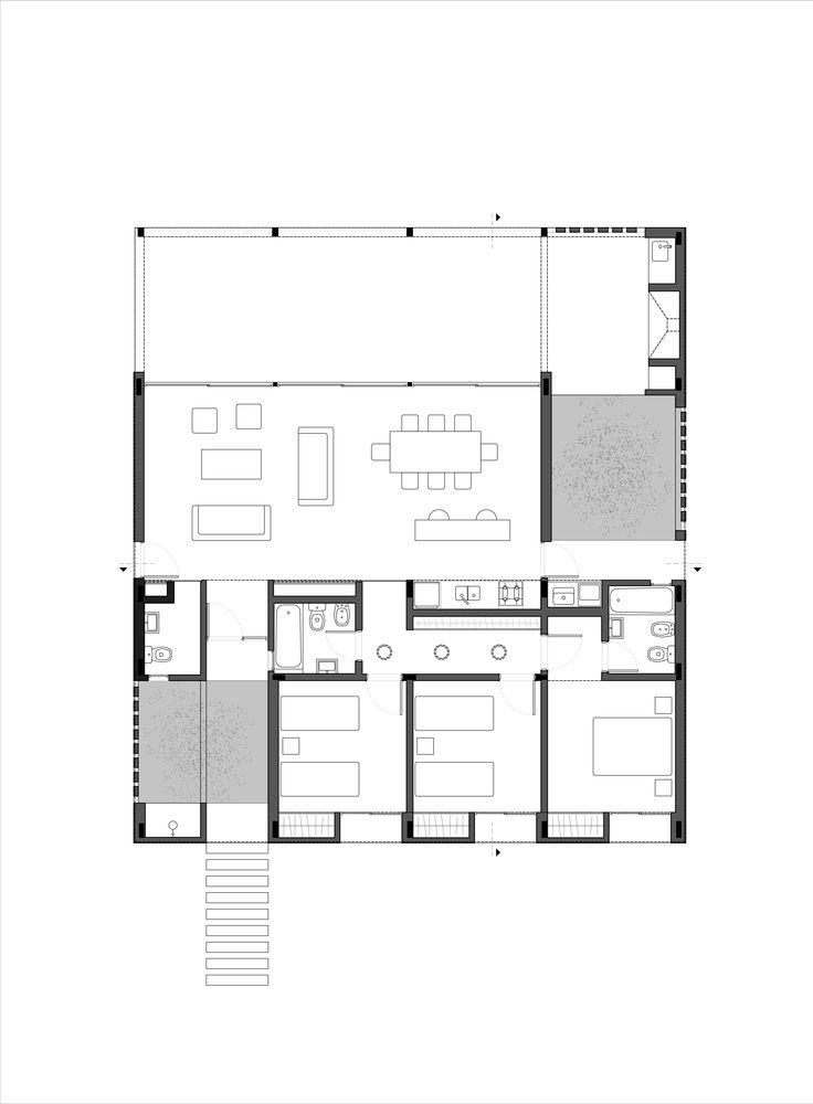 Casa lote 117 / Centro Cero Estudio #architecture #arquitectura #plan #houseplan #distributionplan