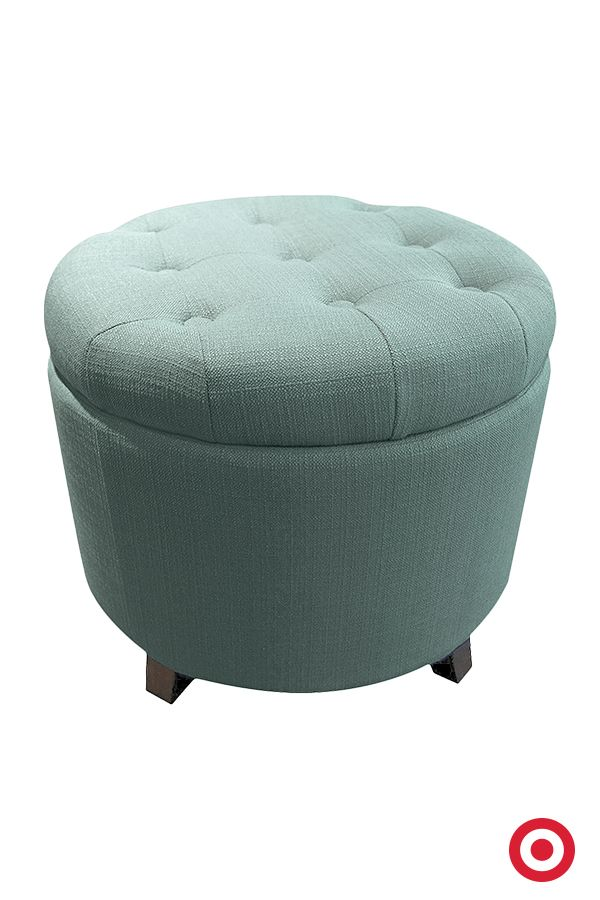 Nice Itu0027s A Stool, A Footrestu2014and Even A Storage Compartment When You Lift The  Seat. The Vintage Inspired Threshold Tufted Round Storage Ottoman Is A  Versatile ...
