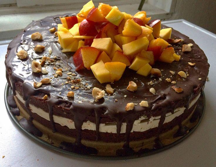 Brownietaart met mascarpone – Sport Foodblog