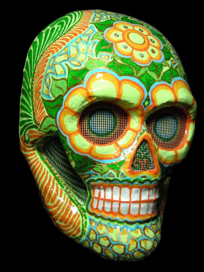 Diego - Maschera a teschio messicano realizzata a Venezia