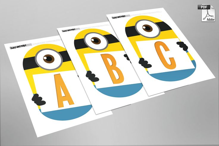 Despicable Me Minion Inspired - BUILD A BANNER!  Great for birthday parties - Available for Instant Download - PDF format