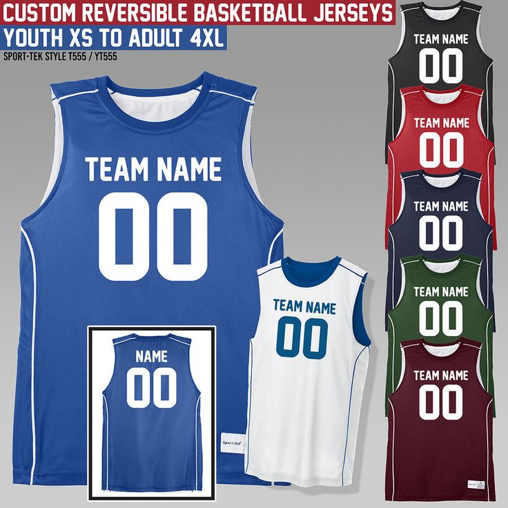 Custom Reversible Basketball Jersey **** Outfit Your Team **** Uniform **** #basketball #basketballshoes #basketballjerseys #basketballuniforms #uniforms
