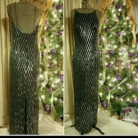 Scala Dresses & Skirts - NEW Scala Long Dress Sequin Black gown XL 12 14 16