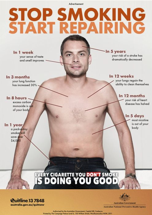 Stop smoking, start repairing.