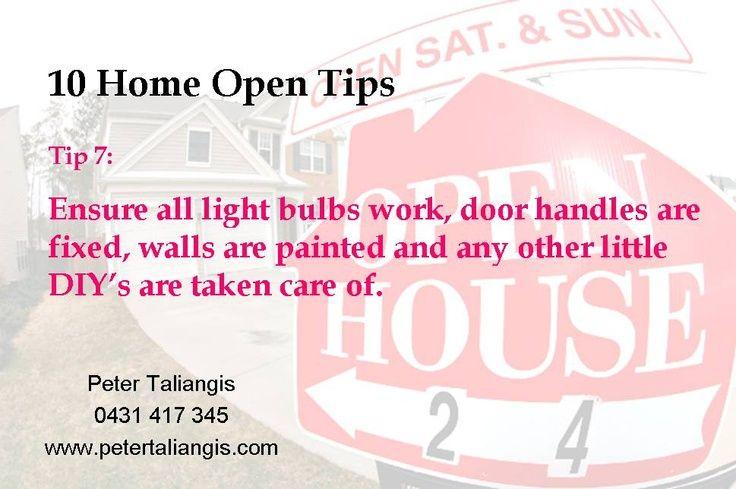 10 Home Open Tips