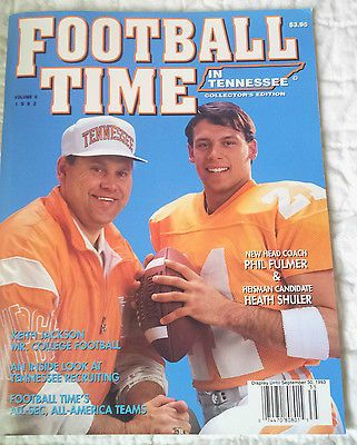 1993 Football Time in Tennessee Phil Fulmer & Heath Shuler