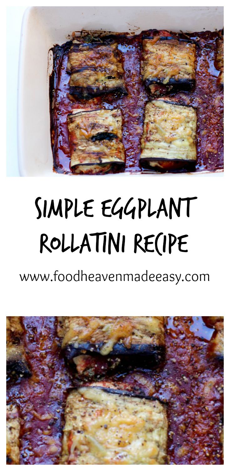 Simple Eggplant Rollatini Recipe that is Rosemary vegetarian friendly, healthy, simple, and delicious!