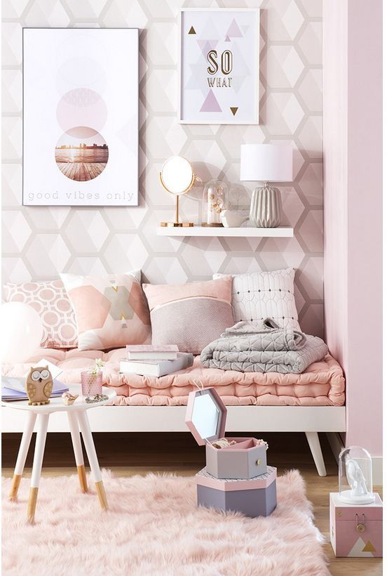 Pink Canvas Art, Canvas Art Prints, Home Bedroom, Girls Bedroom, Bedroom  Furniture, Bedroom Decor, Poster Wall, Print Poster, Design Bedroom