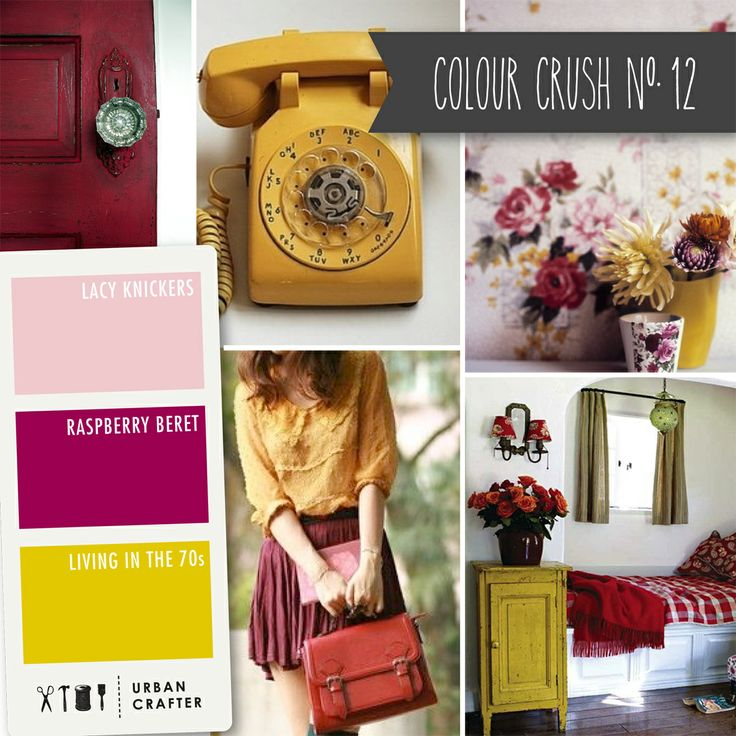 """Urban Crafter Colour Crush Mondays www.urbancrafter.com.au  Colour Crush #12: Get a similar look with Urban Crafter acrylic paints """" Lacy Knickers,"""" """"Raspberry Beret,"""" and """"Living in the 70s."""""""