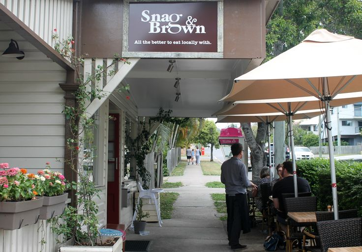 snag brown annerley cafe neighbourhood hash brown sausage eggs breakfast local coffee