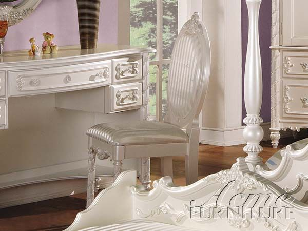 Pearl White Chair By Acme Furniture