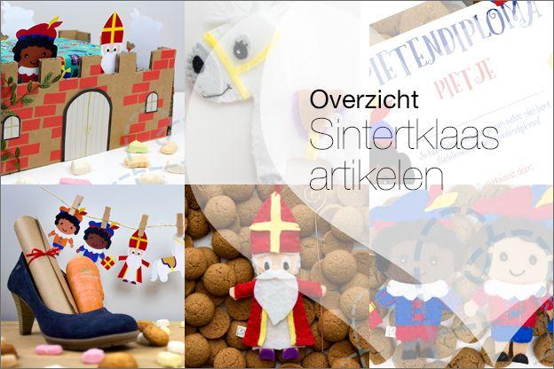 Overzicht: Sinterklaas DIY artikelen. Een artikel vol met verschillende tutorials waarbij je diverse sinterklaas dingen kunt knutselen, surprises, slingers, pietendiploma, vilten poppetjes. Geschikt voor kinderen.