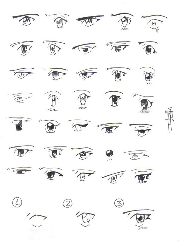 how to draw japanese eyes