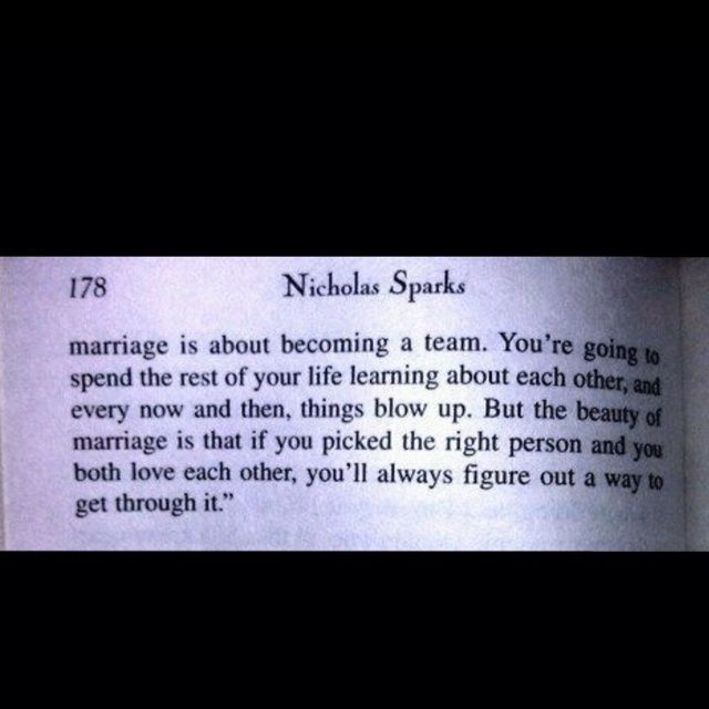 The Wedding Nicholas Sparks Quotes | Marriage quote by Nicholas Sparks
