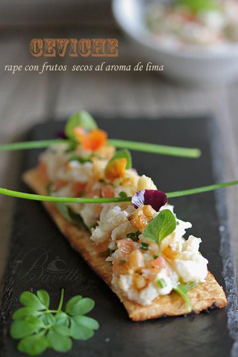 Ceviche de rape con frutos secos al aroma de lima