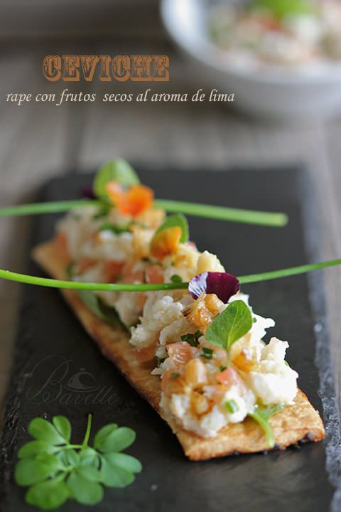 Ceviche de rape con frutos secos al aroma de limaBavette | Bavette