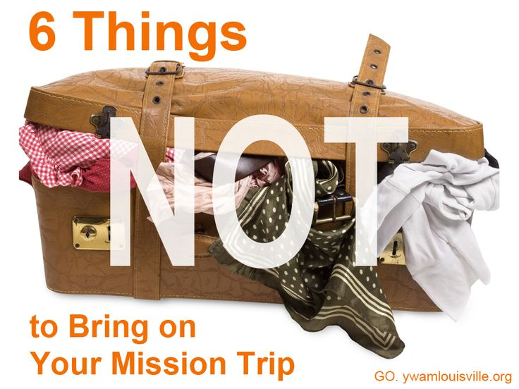 """This post is second in our series on mission trip preparedness – check out our list of Essentials for Your Packing List and our staff """"don't-leave-home-without-it"""" recommendations). Your suitcase will be strapped on top of a van, toted across the country in a train's overhead rack, or cluttering the few square feet of floor space …"""