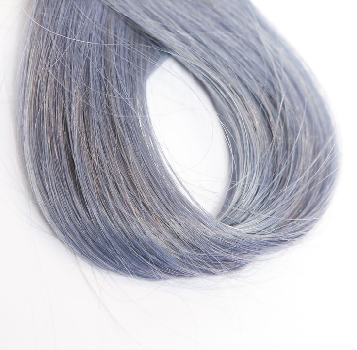 Stonewash Denim Hair: A modern take on the classic blue rinse that's both edgy and beautiful!  Discover more about the three new denim hair looks created by Adam Reed from Percy and Reed - ow.ly/Z43En