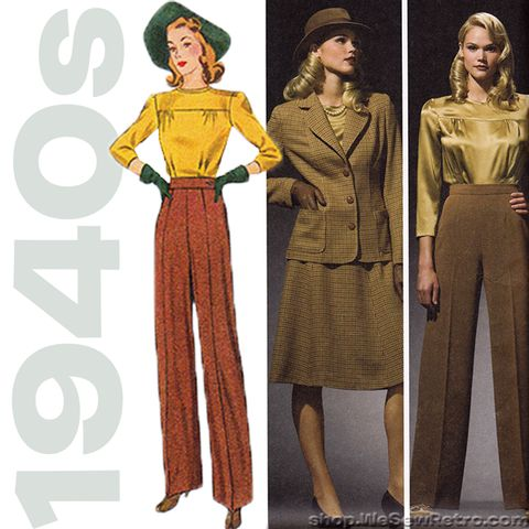 1940s Repro Vintage Sewing Pattern: Sportswear Separates. Simplicity 3 – WeSewRetro