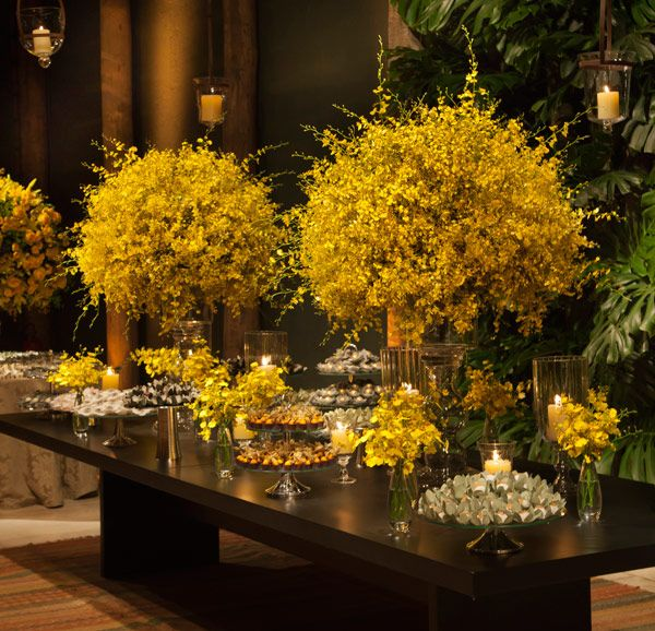 yellow wedding decor reception wedding flowers,  wedding decor, wedding flower centerpiece, wedding flower arrangement, add pic source on comment and we will update it. www.myfloweraffair.com can create this beautiful wedding flower look.