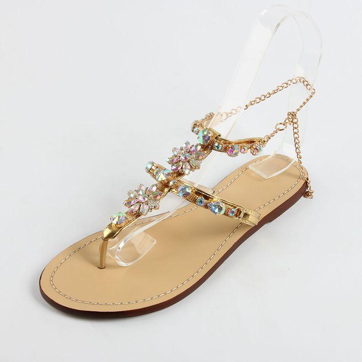 Women's Buckle St...  http://auhashop.myshopify.com/products/womens-buckle-strap-rhinestones-chains-fashion-gladiator-flat-summer-sandals-shoes?utm_campaign=social_autopilot&utm_source=pin&utm_medium=pin
