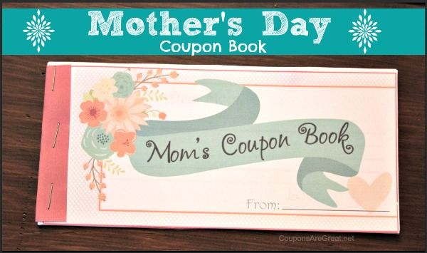 This Mother's Day coupon book is the perfect gift for mom - whether it be for Mother's Day, her birthday, Christmas, or just because!
