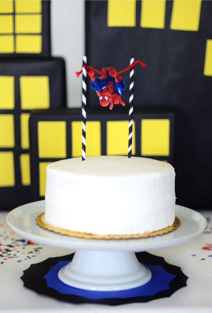 Simple Spider-Man Cake
