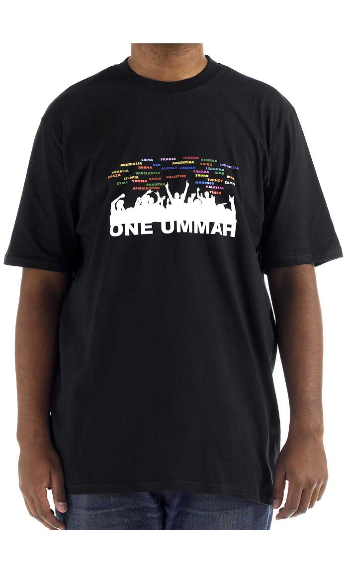 One Ummah.  100% cool comfortable cotton t-shirt.