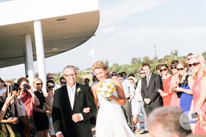 father of the bride,  walking the bride down the isle to her husband ideas, inspiration, sea, bayside @Events at SYC