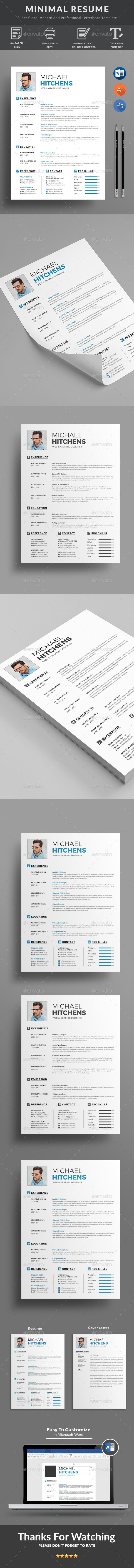 #Resume - Resumes #Stationery Download here: https://graphicriver.net/item/resume/19698912?ref=alena994
