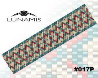 PATTERN ONLY. Create this beautiful peyote cuff bracelet. Miyuki Delica Beads size 11/0 5 bead colors. 34 bead columns by 91 bead rows. Width: 1.8 (4,6 cm) Length: 6.3 (16 cm) Patterns include: - Large colored numbered graph paper (and non-numbered in another files) - Bead legend (numbers and names of Delica beads colors ) - Word chart - Pattern preview This pattern is intended for users that have experience with even count peyote and the pattern itself does NOT include instructions on ho...