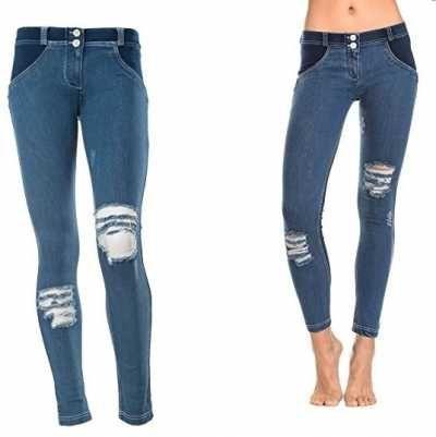 Vaquero para mujeres cintura baja Ofertas especiales y promociones  Caracteristicas Del Producto: Leggings Freddy wrup1glj4e Mujer Fashion efecto jeans
