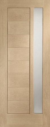 External Doors | Oak Doors | External Oak M Double Glazed Modena with Obscure Glass