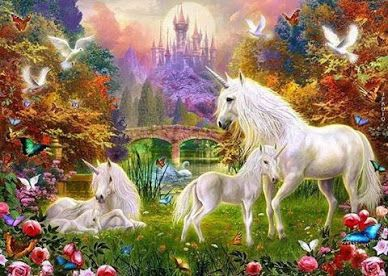 """2016/06/17 """"Heaven"""" Original Poem """"I think in heaven there will grow African violets,  Unicorns as white as snow  . .""""  (Click link to view entire poem.)"""