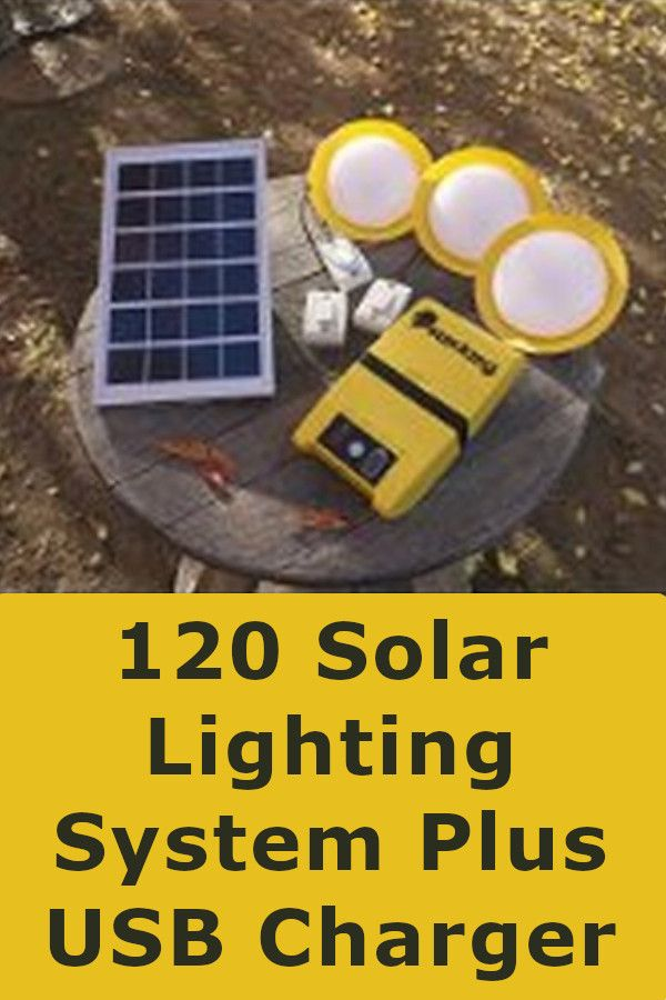 Charges Usb And Dc Power With 3 Wall Mountable Switches For All Your Devices And Needs 200 Lumens 200 L In 2020 Solar Lighting System Solar Lights Diy Solar Lights