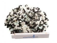 Schaumstoffflocken Flocken Füllmaterial aus Schaumstoff für Kissen und Polster