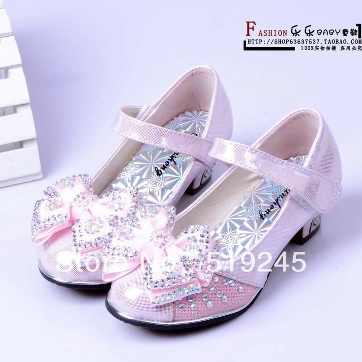 Spedizione gratuita 2013 New moda autunno alto- tacco strass arco kid's/ragazza principessa scarpe ragazza in pelle scarpe da ballo shoe1472