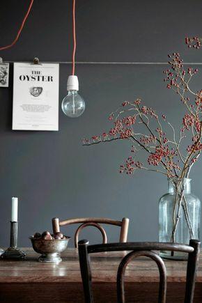 Wandfarben 2016 Trendfarben Esszimmer Küche Farbgestaltung Dunkelgrau  Wandfarbe